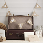 Vintage Affair Hessian Rustic Bunting 'CARDS'