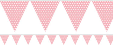 Pink Spotted Pennant Bunting