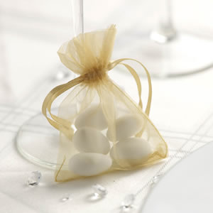 Gold Organza Favour Bag (10)