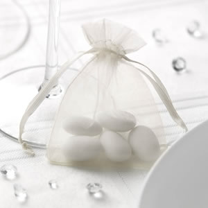 Ivory Organza Favour Bag (10)