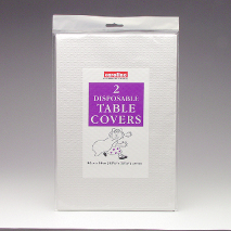 Silver Disposable Table Covers Pk 2