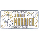 Just Married Numberplate Sign