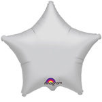 "19"" Metallic Silver Star Foil Balloon"