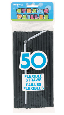 Black Flexi Straws (50)91249