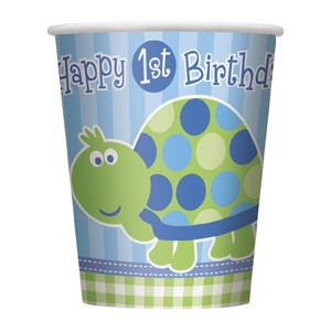 Happy 1st Birthday Turtle Cups (8)