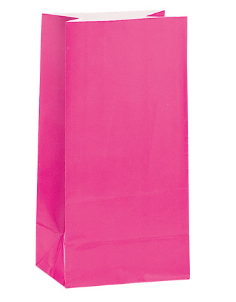 Pink Paper Party Bags (12)