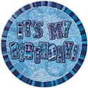 Blue Glitzy 'Its My Birthday' Badge