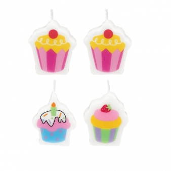 Cupcake Mini Moulded Candles (6)