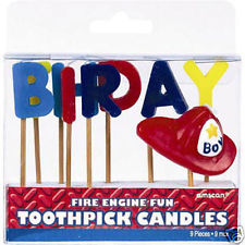 Fire Engine Fun Birthday Candles