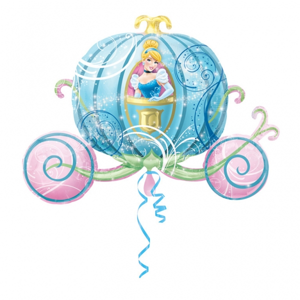 Supershape Disney Princess Carriage Foil Balloon