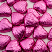 Fuchsia Pink Foil Chocolate Heart (20)