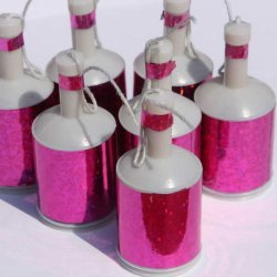 Pink Holograhic Party Poppers (20)