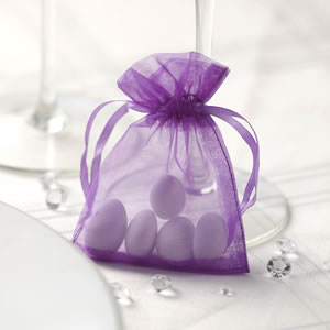 Purple Organza Favour Bag (10)