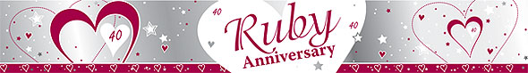 Ruby Anniversary Foil Banner