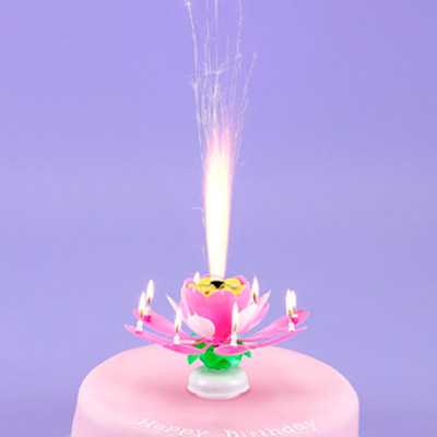 Candle Showstopper - Pink or Yellow
