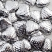 Silver Foil Chocolate Heart (20)