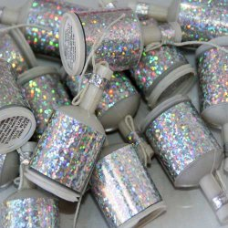Silver Holographic Party Poppers (20)