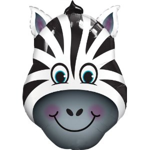 Supershape Zebra Head Foil Balloon