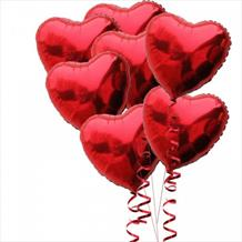 15 Red Heart Foil Balloons