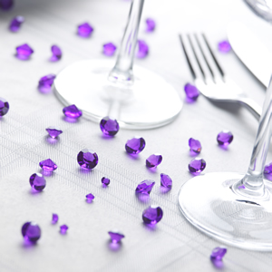 Purple Table Crystals