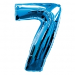 Supershape Blue No 7 Balloon