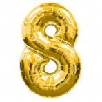 Supershape Gold No 8 Balloon