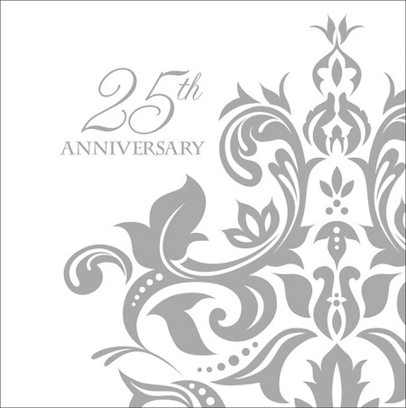 25th Silver Anniversary Paper Napkins (36 - 3 ply