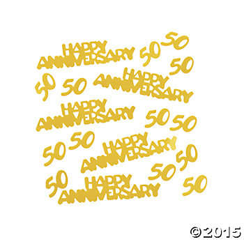 50th Golden Wedding Anniversary Confetti