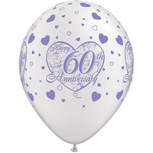 "60th Anniversary Script 11""Latex Balloon (10)"