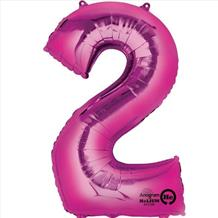 Supershape Pink No 2 Balloon