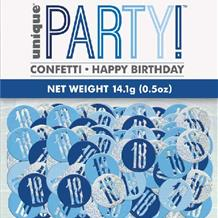 18th Blue/Silver Metallic Confetti