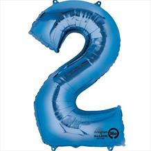 Supershape Blue No 2 Balloon