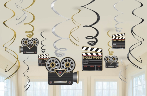Hollywood Swirl Decorations Pk12