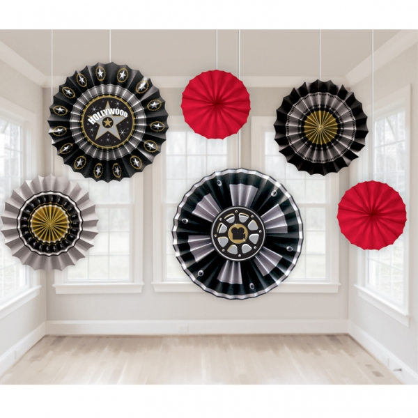 Hollywood Paper Fan Decorations