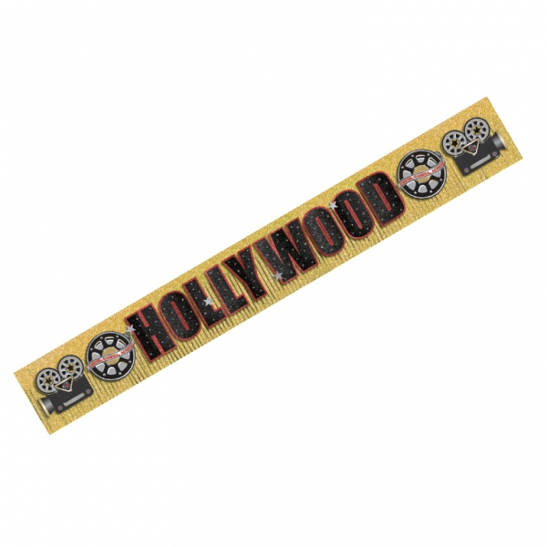 Hollywood Glitter Fringe Banner