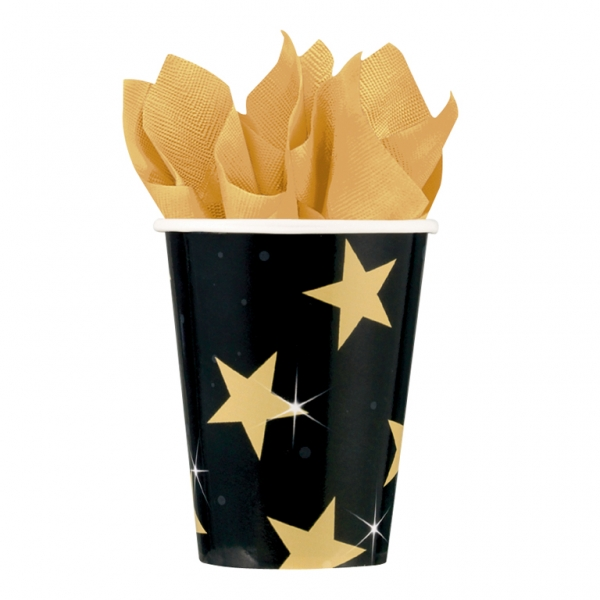 Hollywood Star Attraction Paper Cups Pk 8