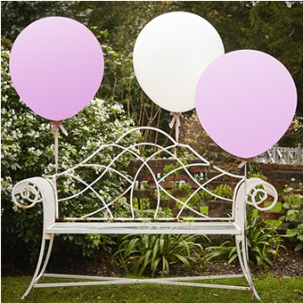 "Huge 36"" Latex Balloons  - 2 Pink 1 White"