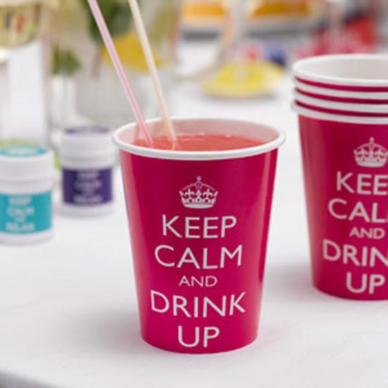 Keep Calm Paper Cups (8)