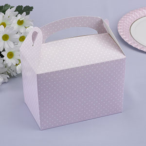 Pale Pink Polka Dot Party/Lunch Boxes (8)