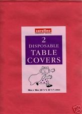 Red Disposable Paper Tablecover (2)