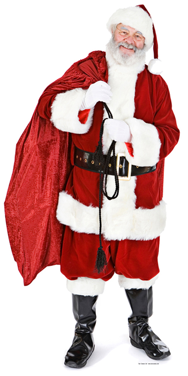 Santa with Sack Cutout/Stand Up