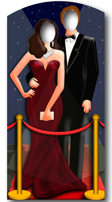Red Couple Carpet Stand In
