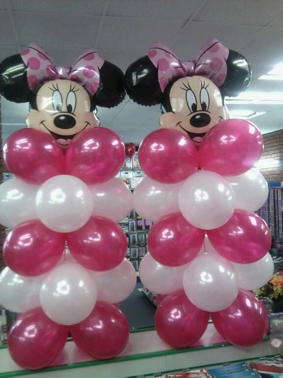 Minnie Mouse Balloon Tower