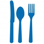 Royal Blue Cutlery (For 6)
