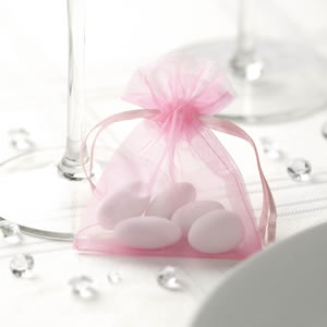 Pink Organza Favour Bag (10)