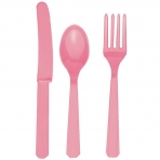Pastel Pink Cutlery (For 6)