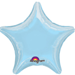 "19"" Pastel Blue Star Foil Balloon"