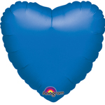 "18"" Metallic Blue Heart Foil Balloon"