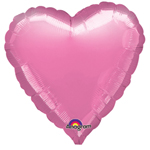"18"" Metallic Pink Heart Foil Balloon"