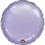 "18""  Lilac Round Foil Balloon"